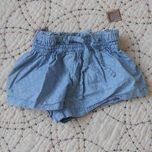 5/$10 Carter's Blue Polka Dot Shorts 12mo